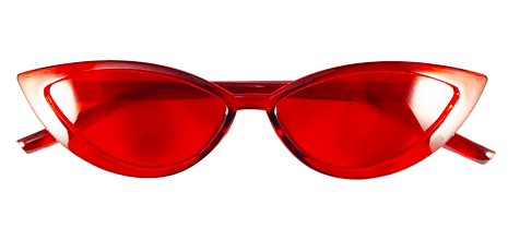 Transparent Red Cat Eye Sunglasses