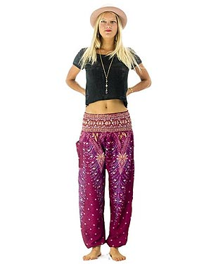 Womens Bohemian Harem Pants