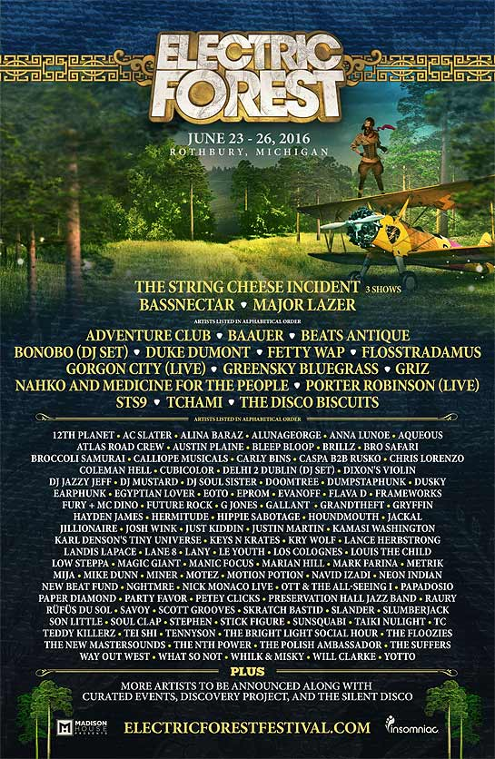 Electric forest dates